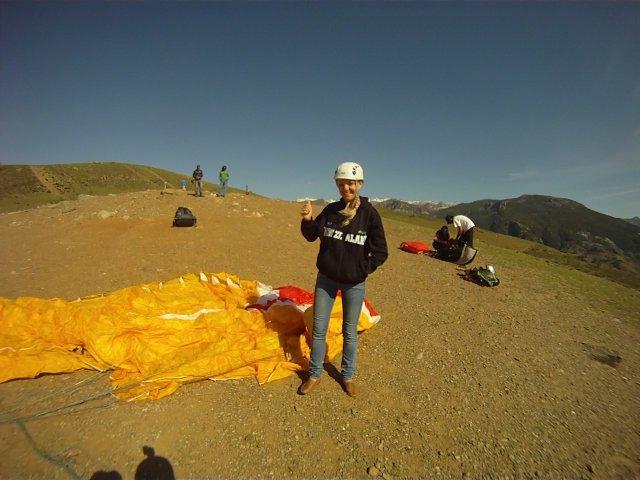 Перед взлетом на параплане, Сьерра-Невада, Испания