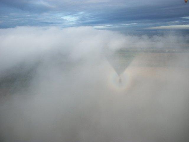 Полёт на воздушном шаре - фото без обработки - высота над городом 1000 фт