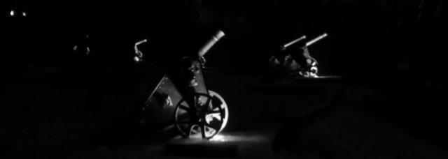 Пушки Валу вечером ...