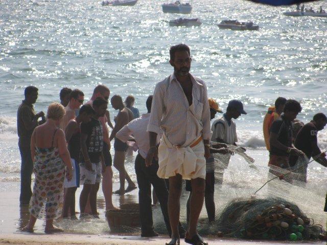 Пляж Калангут в Гоа, Индия