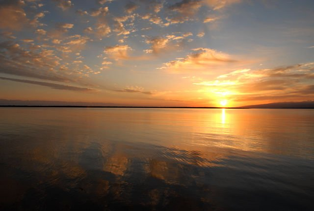 Закат на Иссык-Куле