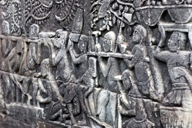 Ангкор.барельефы. Повседневная жизнь