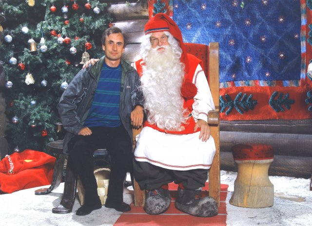 The official photo with Santa Claus (Официальный фото с Дедом Морозом)