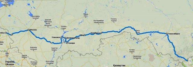 Мой путь из Западной России в Монголию, со 2-го по 17 августа 2014 года