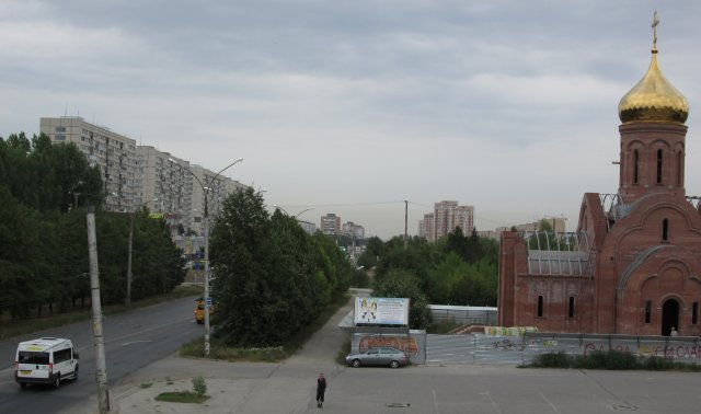 Вид на город Тольятти, в котором нет туристических достопримечательностей