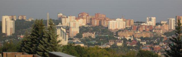 Панорамный вид на один из новых районов Уфы