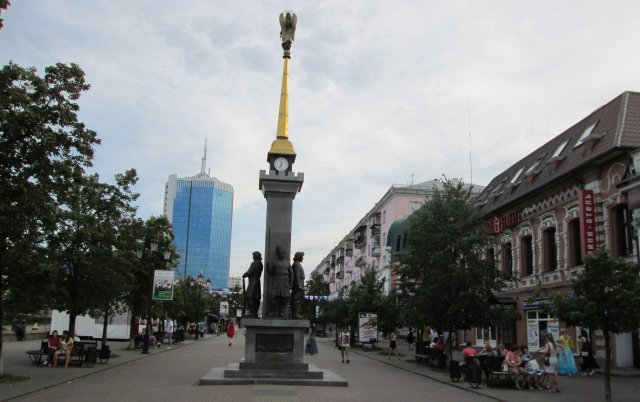 Пешеходная зона в центре Челябинска