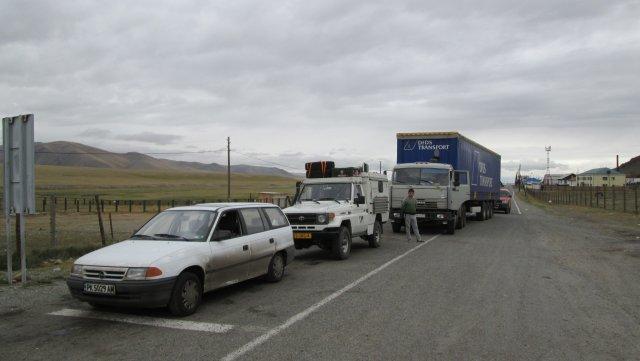 """Мой """"Опель"""" в очереди на российско-монгольской границе"""
