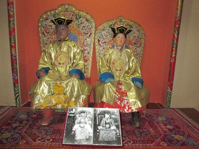 Экспонат в Национальном музее истории Монголии