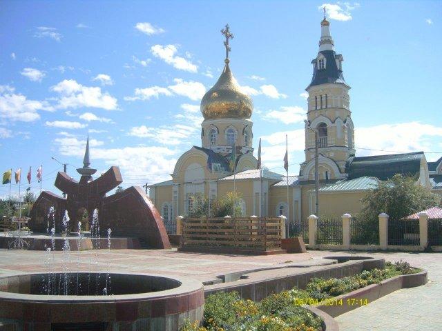 Храм Святого Николая в центре Агинского