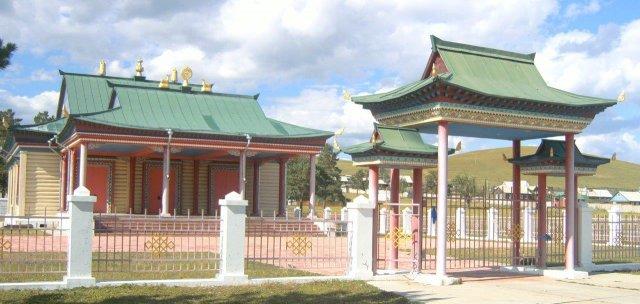 Буддийский монастырь (дацан) недалеко от Агинского
