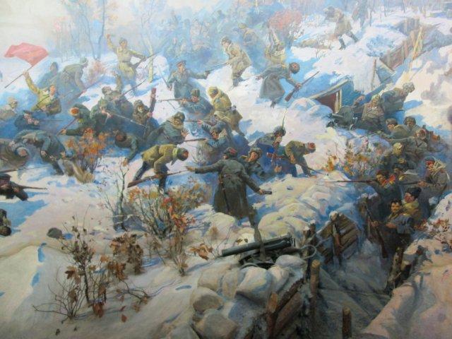Фрагмент художественной панорамы, отражающей победу Красной Армии у Волочаевки