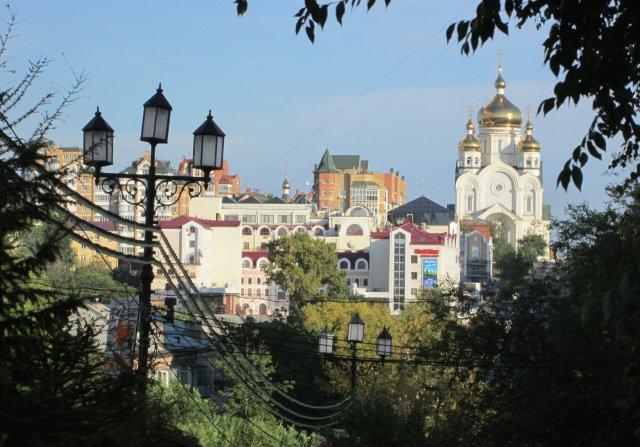 Панорамный вид на часть города