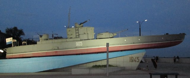 Бронированный катер Амурской флотилии, участвовавший в боевых действиях в 1945 году