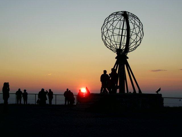 Закат на мысе Нордкап