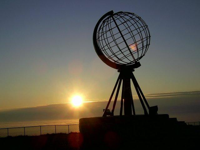 Восход солнца на мысе Нордкап