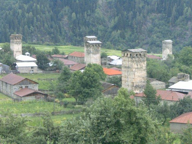 Оборонительные башни в Сванети