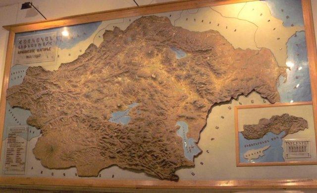 Карта Армянской империи во времена её самого большого восхода. Национальный музей в Еревене.