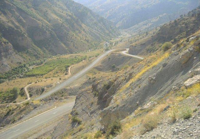 Один из маршрутов Шелкового пути, проходящий через Армению