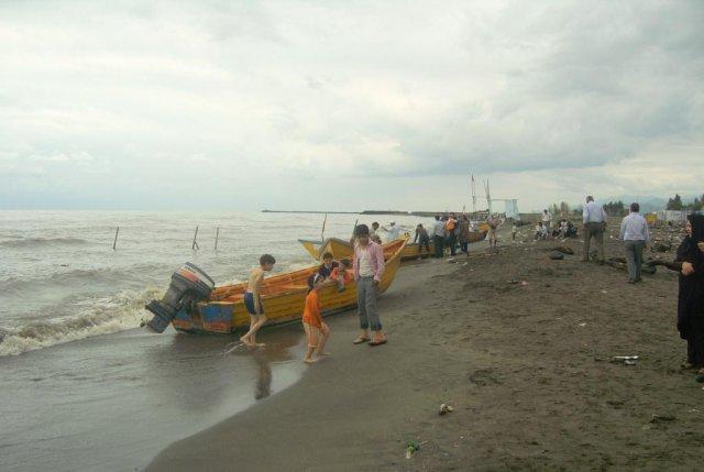 Пляж города Астары на Каспийском море