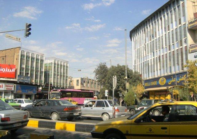 Улицы и площади современного Шираза