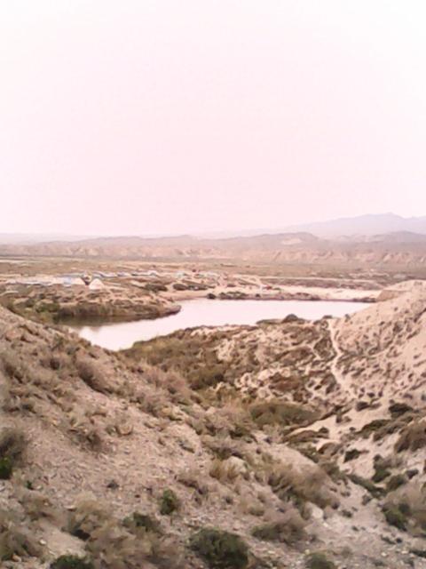 Вид на озеро с вершины горы