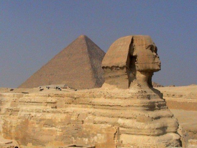 Каир, Гиза, Сфинкс и пирамида, Египет