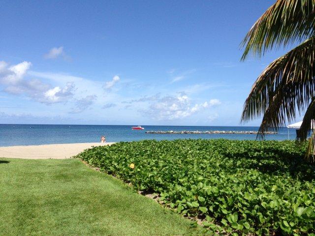 Пляж Карибского моря - недалеко от Hamilton Beach Villas and Spa