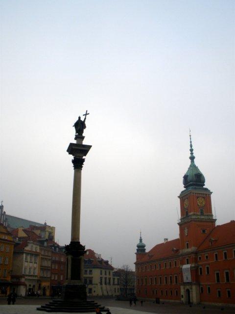 Замковая площадь и пямятник Сигизмунду III