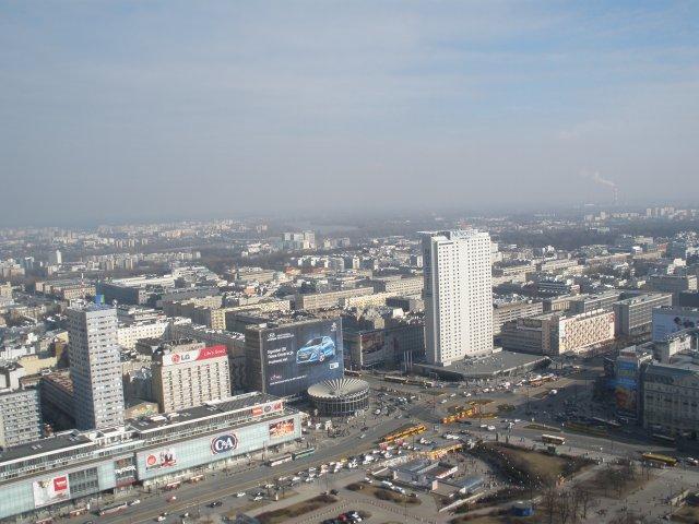 Вид с высоты Дворца культуры и науки на наш отель