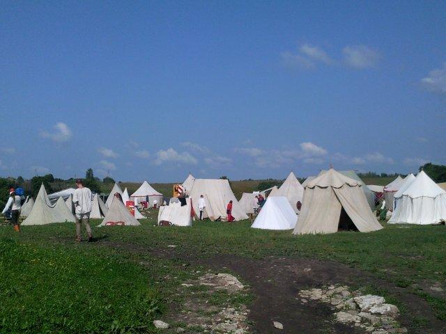 Лагерь, расположившийся на Труворовом городище