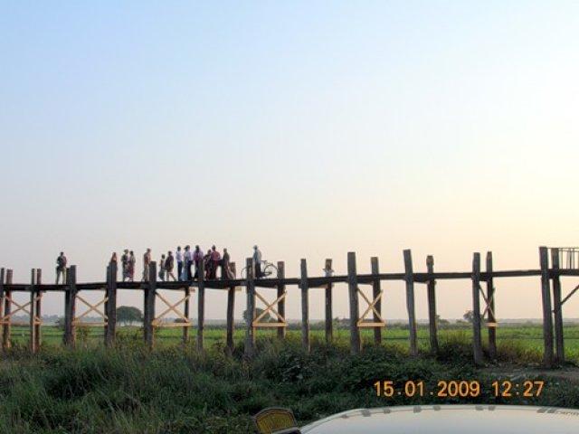 Амарапура, мост У-Бейн, Мьянма
