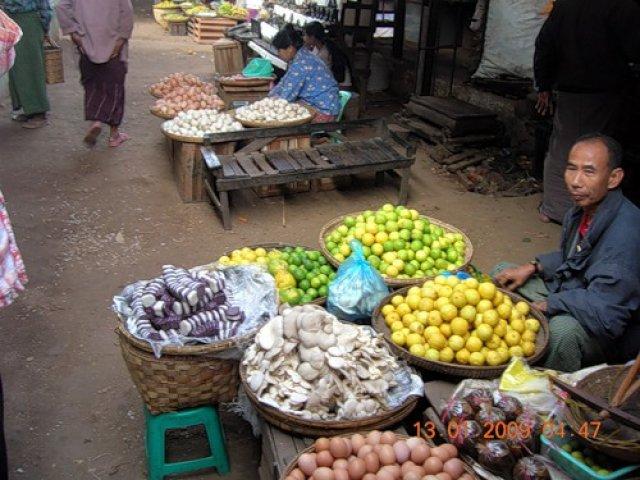 Рынок в Багане, Мьянма
