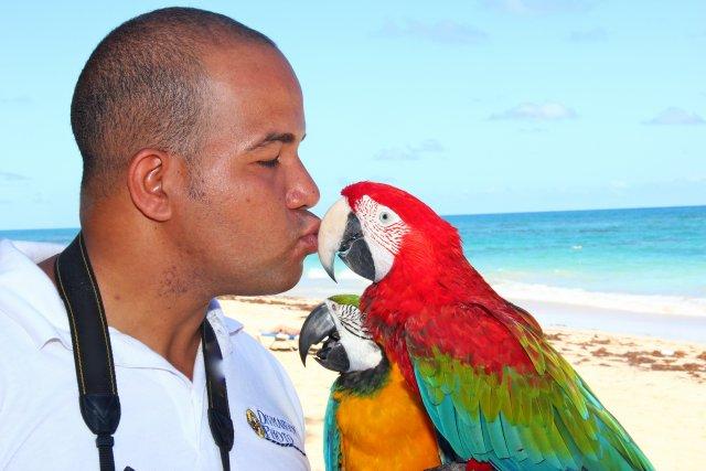 Поцелуй фотографа.( да, кормильца нужно целовать )