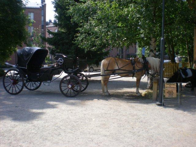 На бывшем конюшенном дворе Таллипиха можно прокатиться на настоящей повозке и на пони