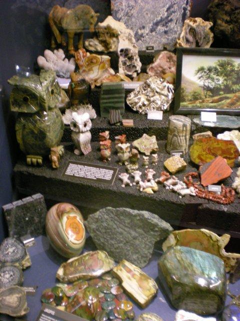 В музее минералов
