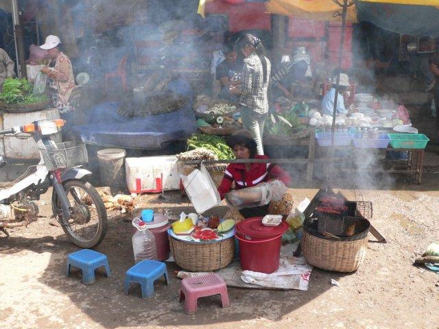 Рынок в Камбодже