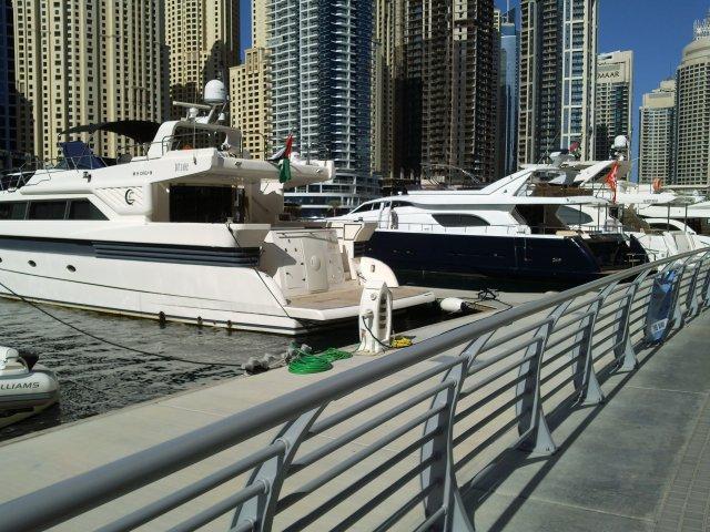 Яхтенная пристань в Дубай Марина