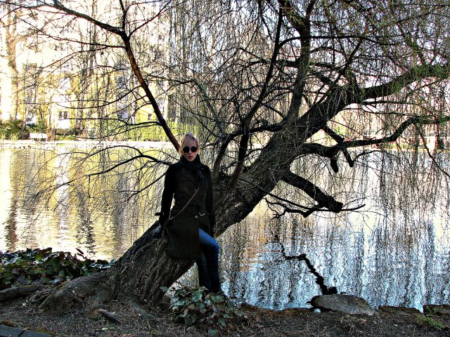 Пруд в парке Добльхофф, который был разбит вокруг замка Вайкерсдорф