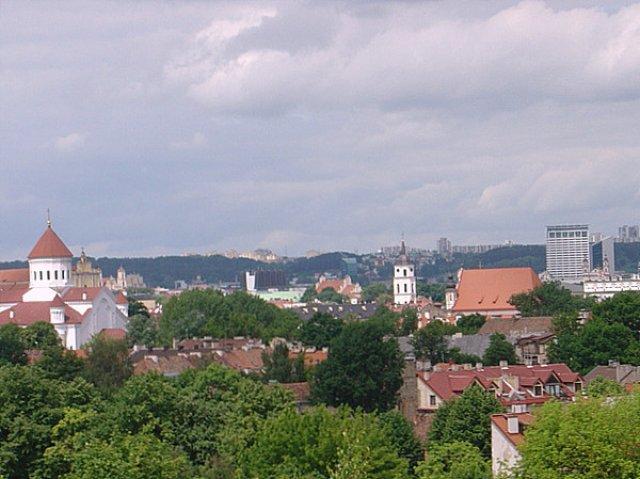 Панорама Вильнюса с улицы Субачюс .