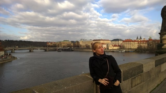 Прага на мосту
