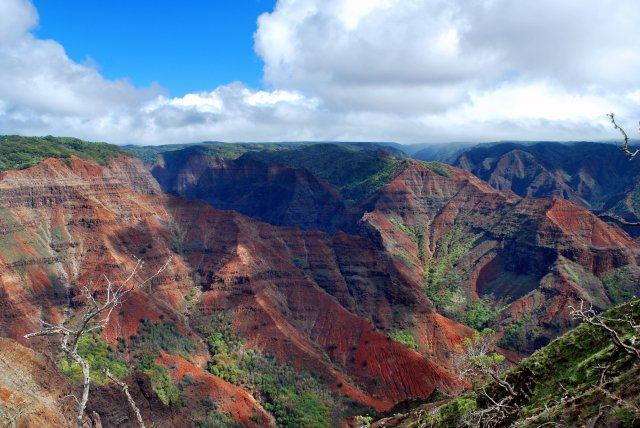 Каньон на острове Кауаи, Гавайи