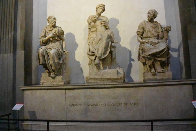 Надгробие Лоренцо Великолепного работы Микеланджело
