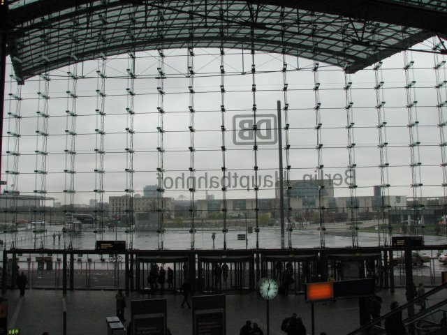 Вид из вокзала на город, Берлин