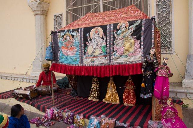 Кукольное представление, Джайпур, Индия