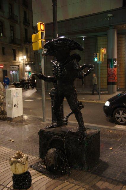 На улице Рамбла, Барселона