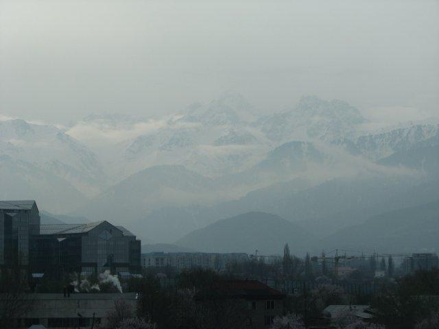 Вид на горы, Алматы