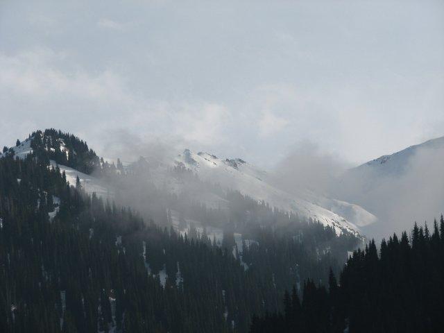 В горах около Алматы