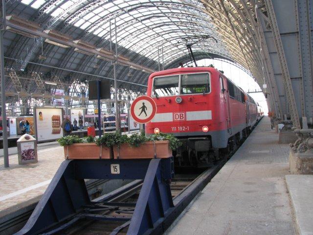 Региональный поезд на вокзале, Франкфурт-на-Майне