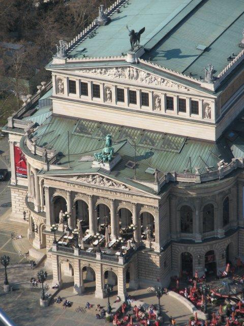 Вид со смотровой площадки на Старую Оперу, Франкфурт-на-Майне